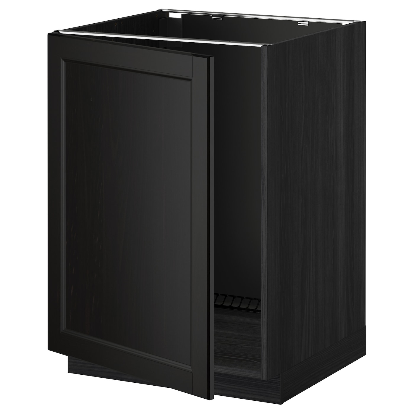 Ikea Kitchen Black Cabinets: METOD Base Cabinet For Sink Black/laxarby Black-brown