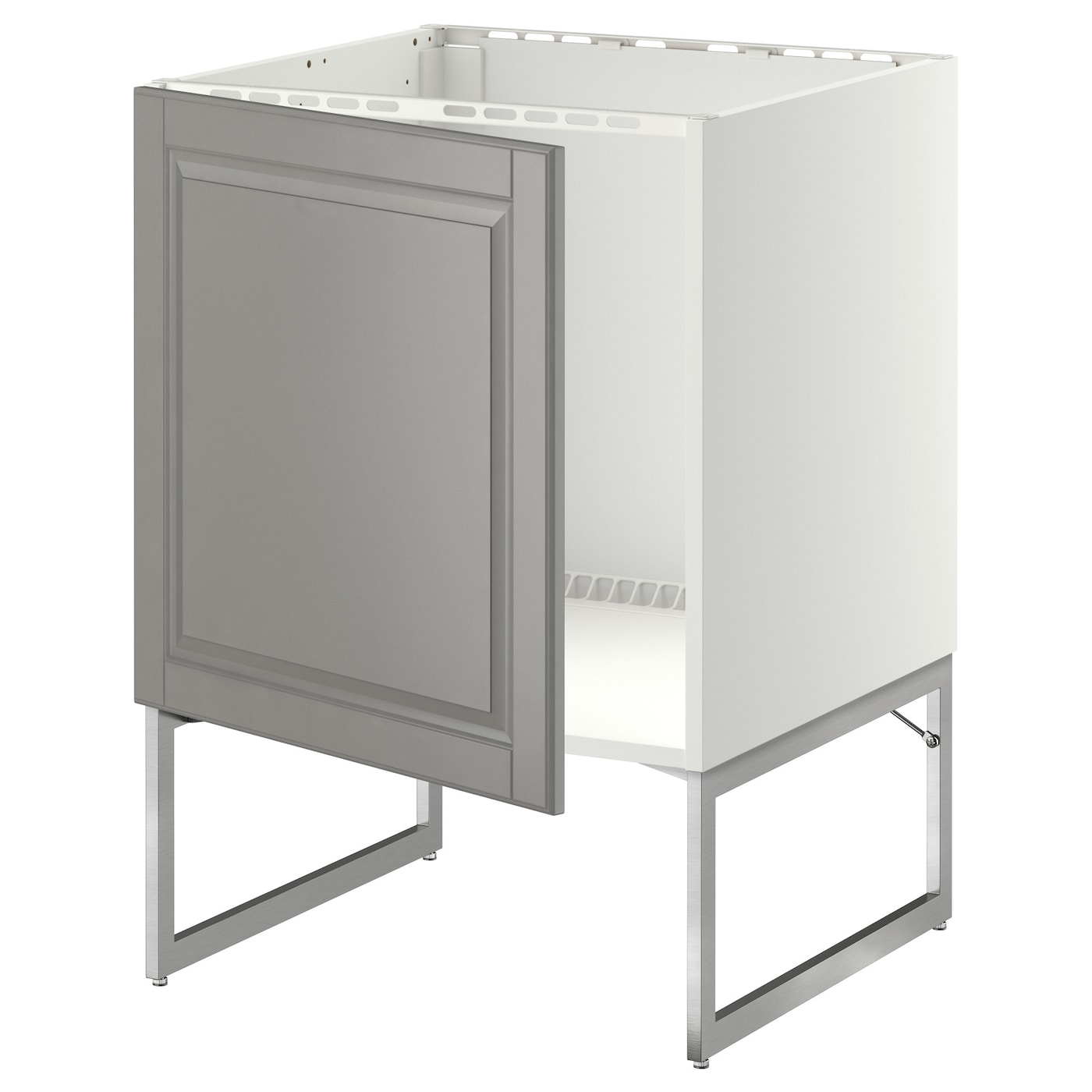 Metod base cabinet for sink white bodbyn grey 60x60x60 cm for Ikea kuche metod