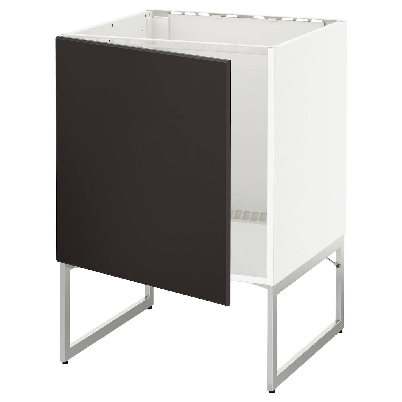 METOD Base Cabinet For Sink White/kungsbacka Anthracite