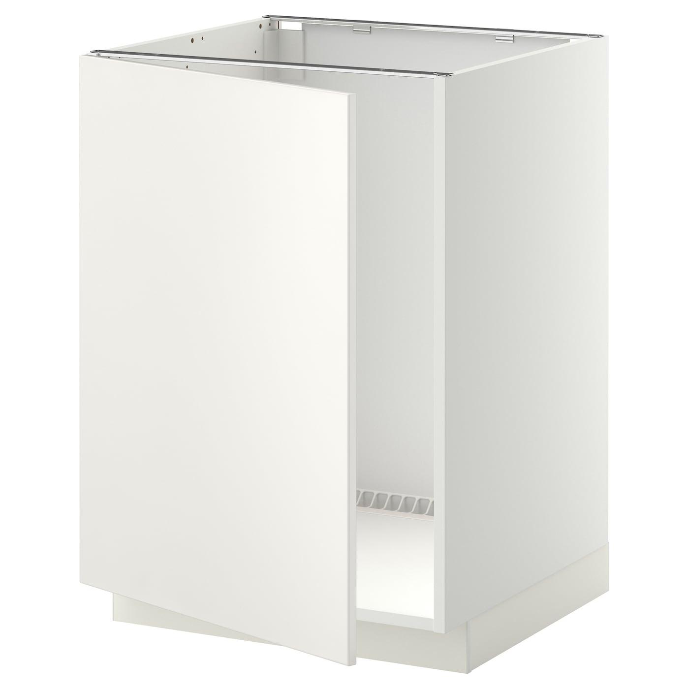 metod base cabinet for sink white veddinge white 60x60 cm ikea. Black Bedroom Furniture Sets. Home Design Ideas