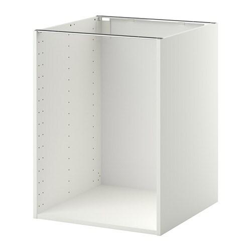 metod base cabinet frame white 60 x 60 x 80 cm ikea. Black Bedroom Furniture Sets. Home Design Ideas