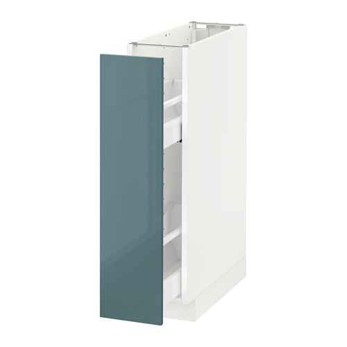 Metod base cabinet pull out int fittings white kallarp
