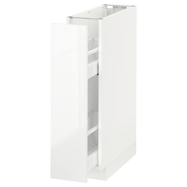 METOD Base cabinet/pull-out int fittings, white/Ringhult white, 20x60 cm
