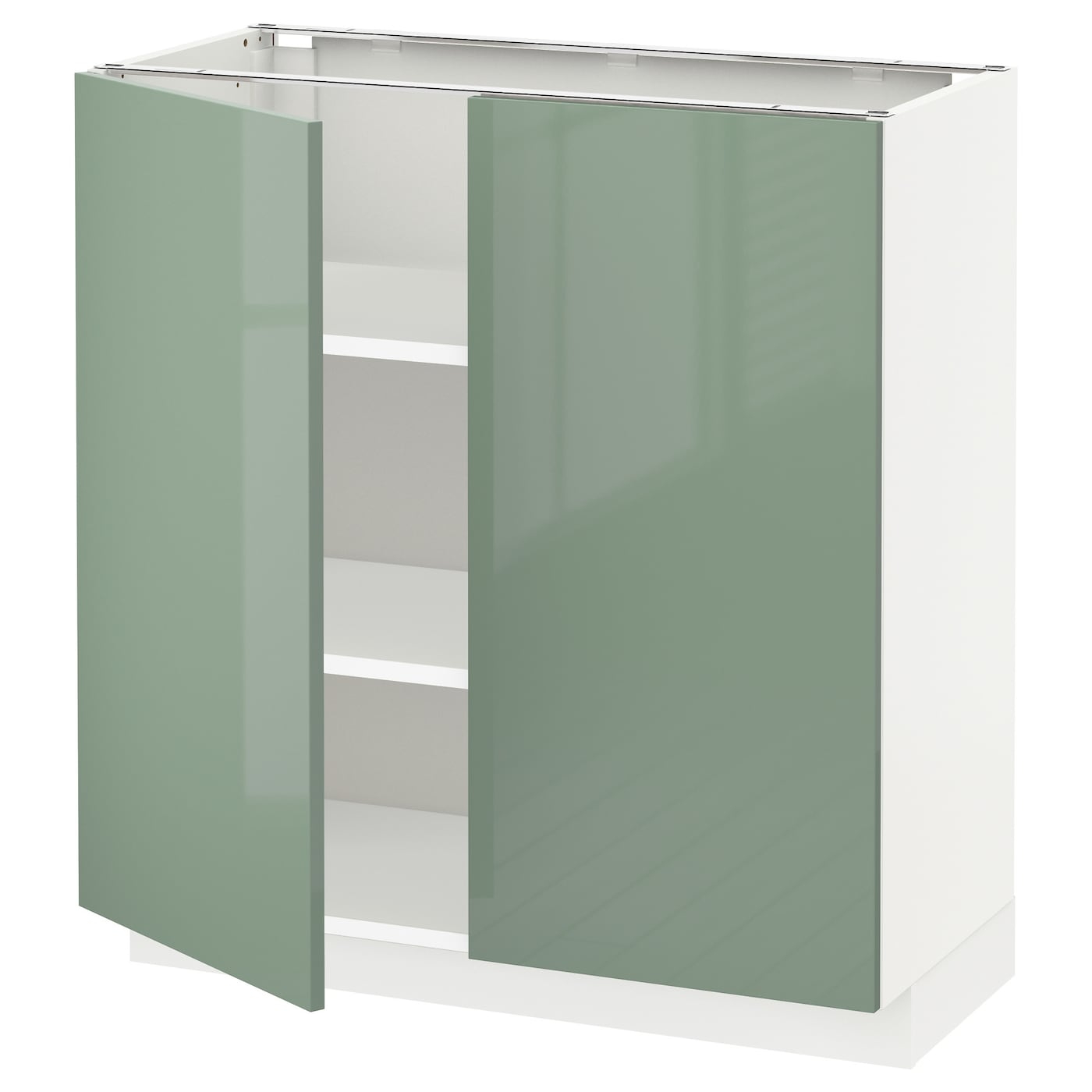 Metod Base Cabinet With Shelves 2 Doors White Kallarp