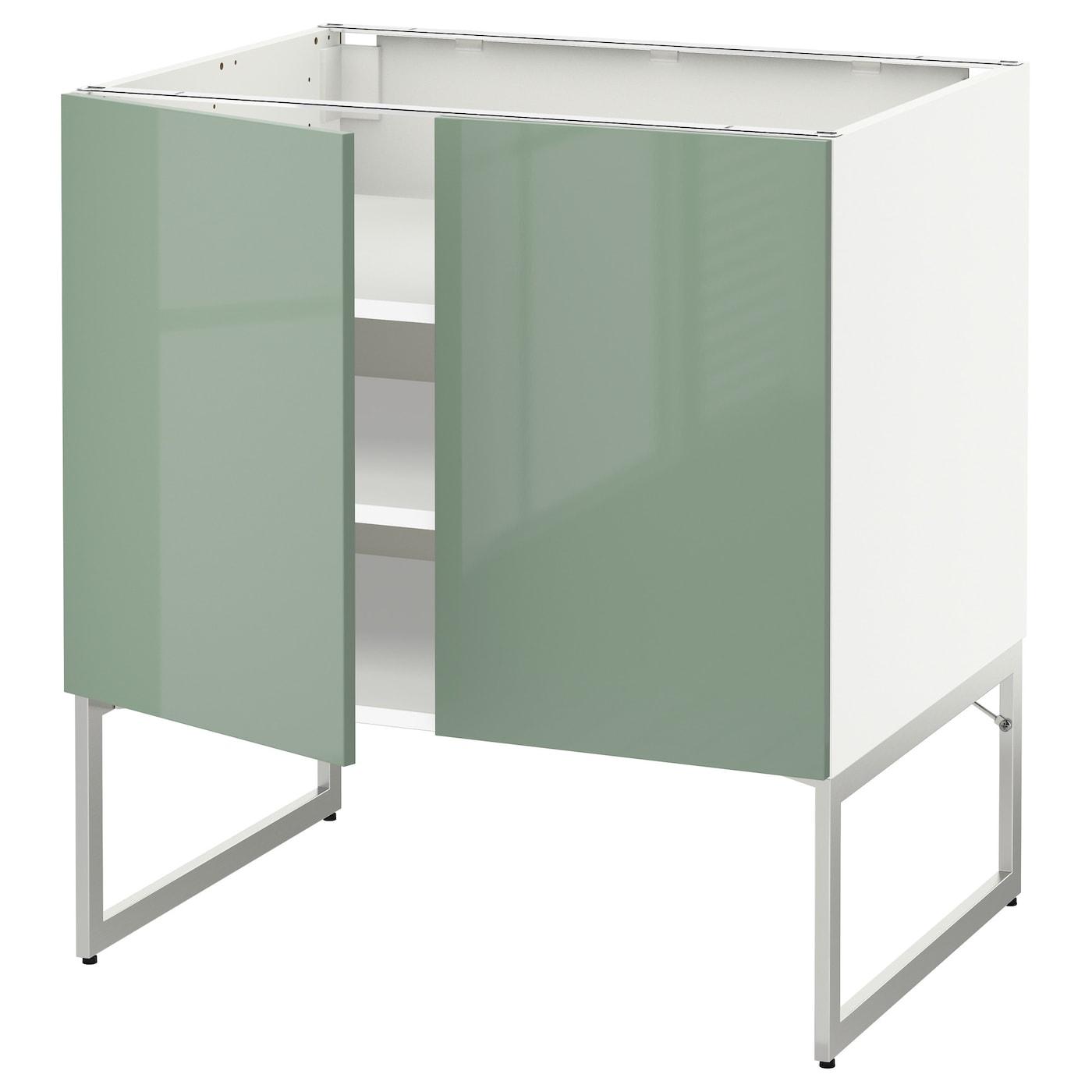 Ikea Kitchen Cabinet Construction: METOD Base Cabinet With Shelves/2 Doors White/kallarp