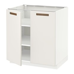 IKEA METOD Base Cabinet With Shelves/2 Doors Sturdy Frame Construction, 18  Mm Thick