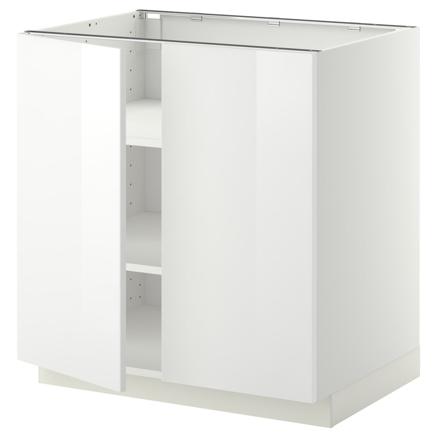 Metod Base Cabinet With Shelves 2 Doors White Ringhult