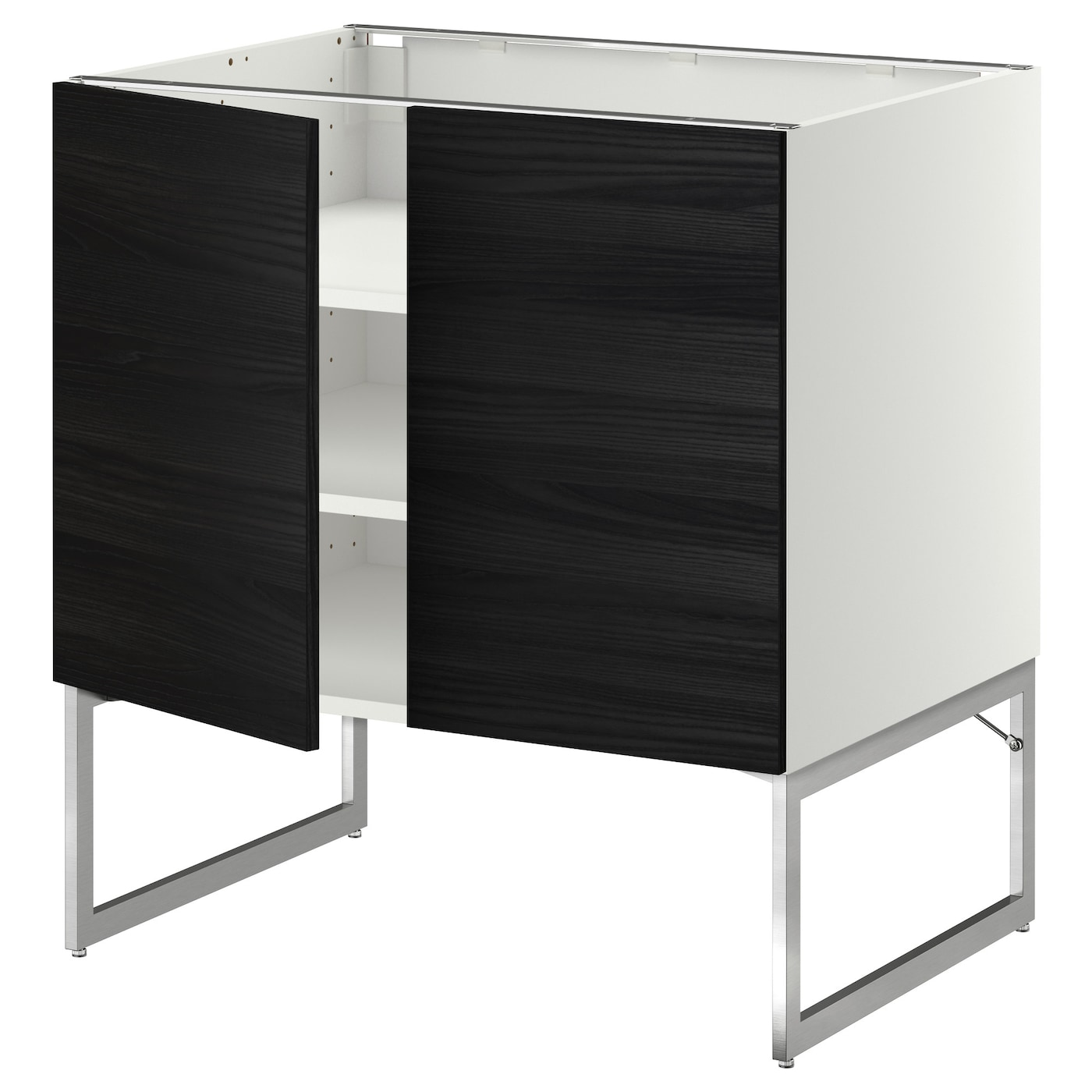 metod base cabinet with shelves 2 doors white tingsryd. Black Bedroom Furniture Sets. Home Design Ideas
