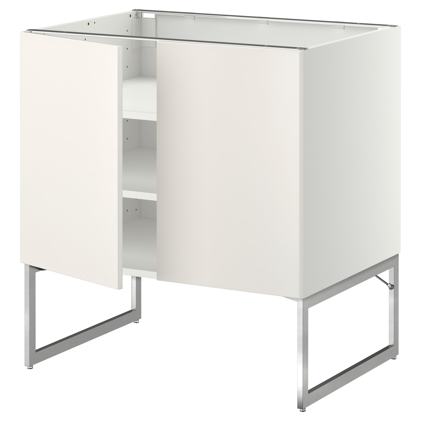 metod base cabinet with shelves 2 doors white veddinge white 80x60x60 cm ikea. Black Bedroom Furniture Sets. Home Design Ideas