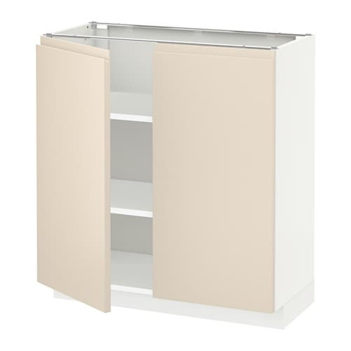 ikea metod base cabinet with shelves 2 doors sturdy frame construction