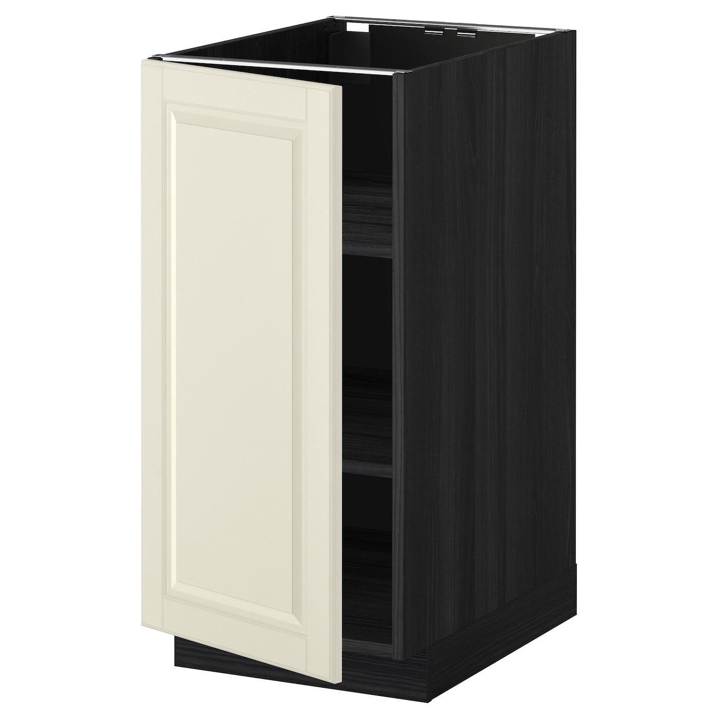 Metod Base Cabinet With Shelves Black Bodbyn Off White 40x60 Cm Ikea