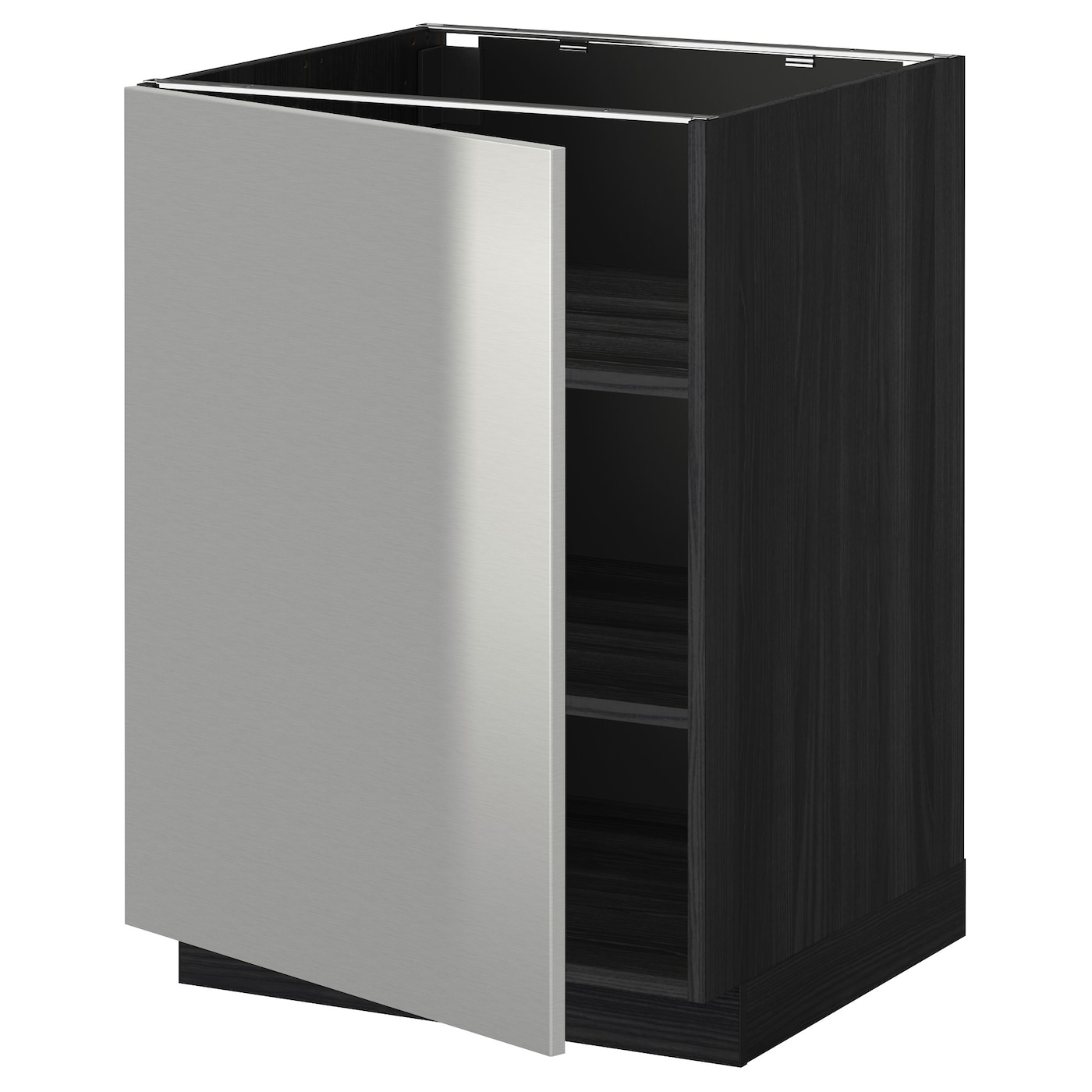 stainless steel kitchen base cabinets metod base cabinet with shelves black grevsta stainless 8241