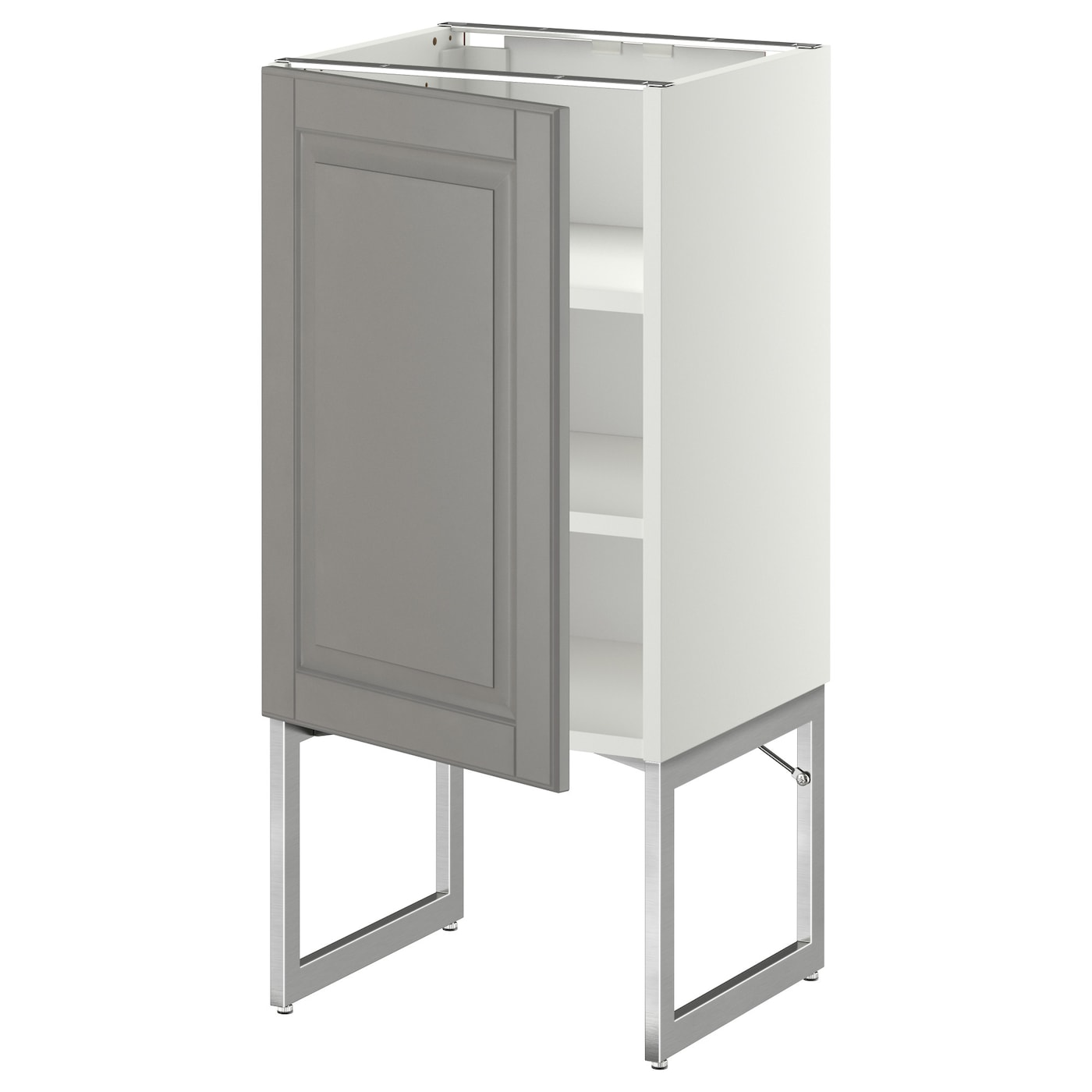 Metod base cabinet with shelves white bodbyn grey 40x37x60 for White kitchen base cabinets