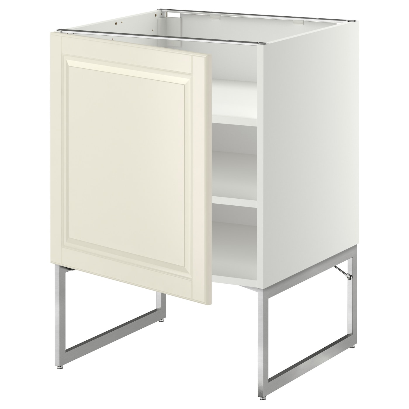 Metod base cabinet with shelves white bodbyn off white for Off the shelf kitchen units