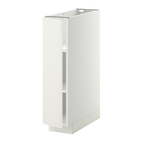 Metod base cabinet with shelves white h ggeby white 20x60 for Poubelle salle de bain ikea