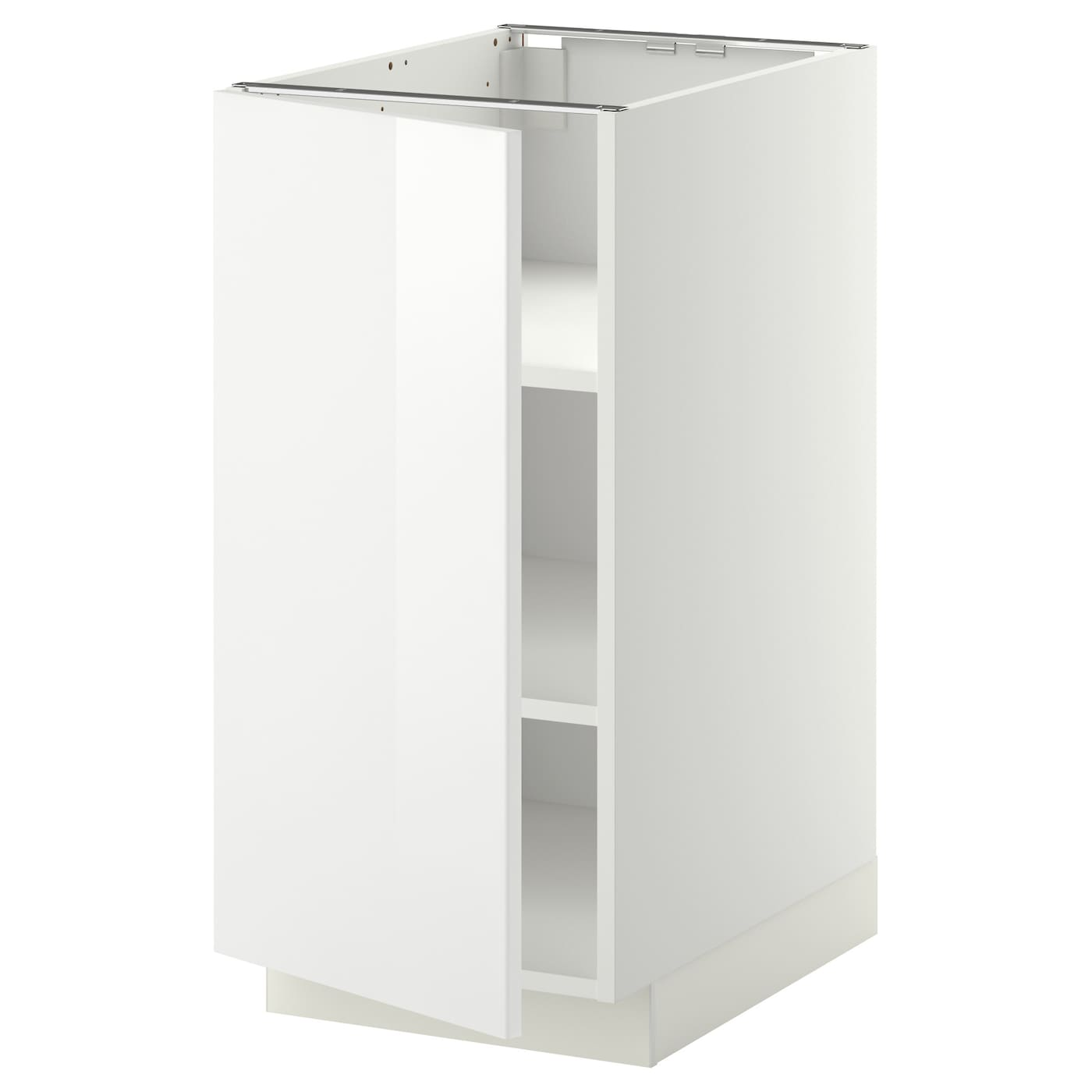 Metod base cabinet with shelves white ringhult white 40x60 for Off the shelf kitchen units
