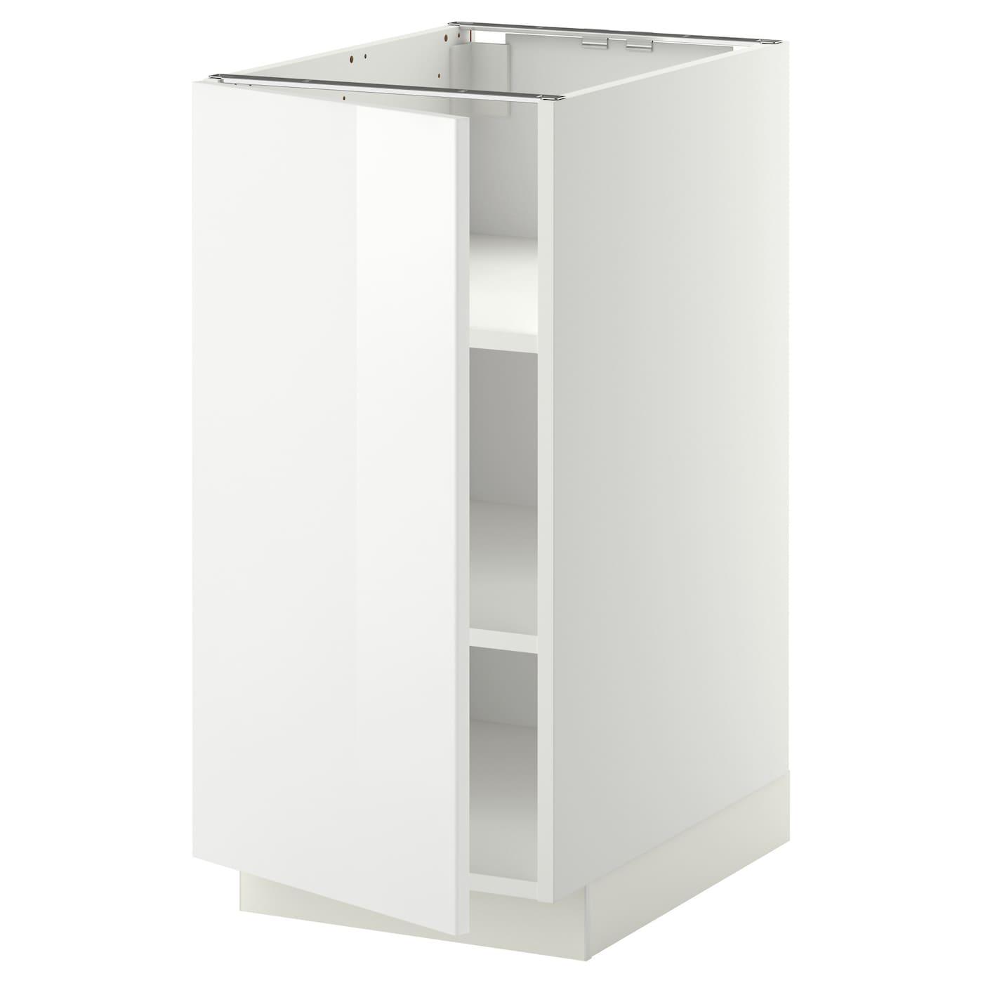 Ringhult Drawer Front High Gloss White 60 X 40 Cm: METOD Base Cabinet With Shelves White/ringhult White 40 X