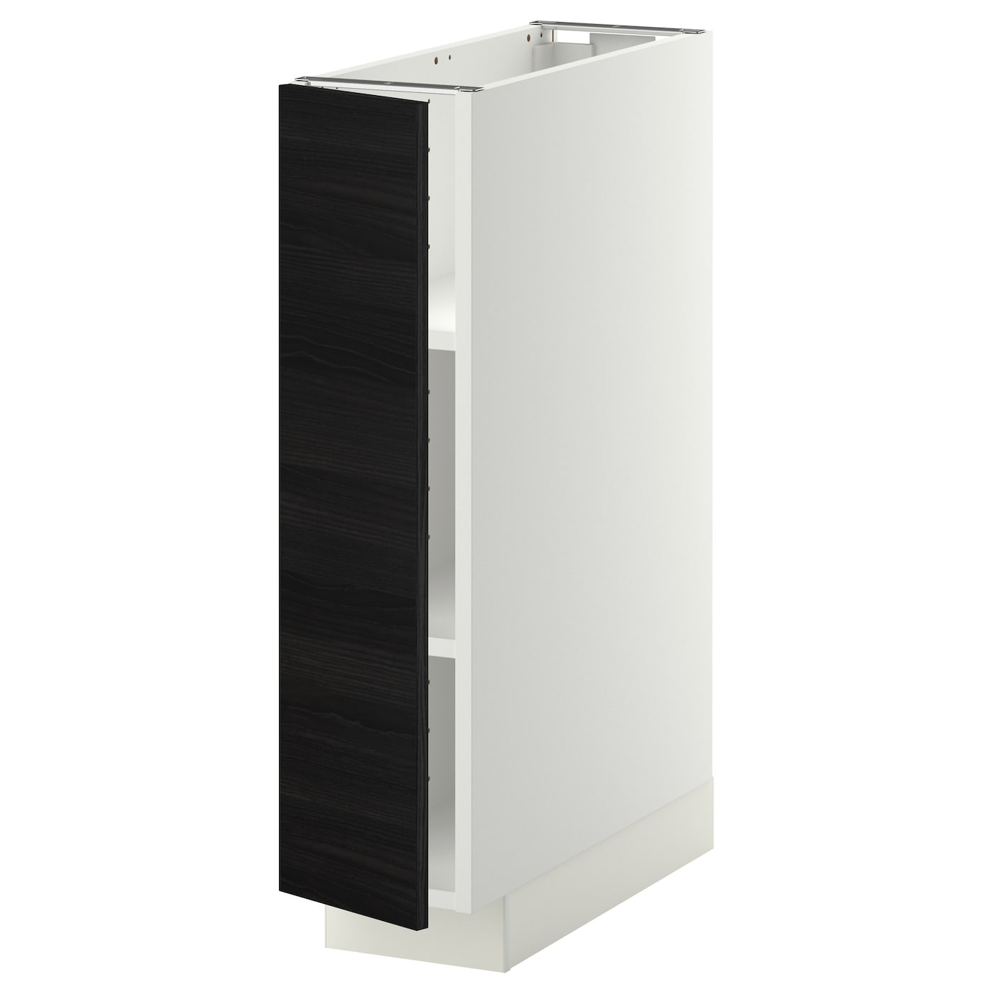 Metod Base Cabinet With Shelves White Tingsryd Black 20x60 Cm Ikea