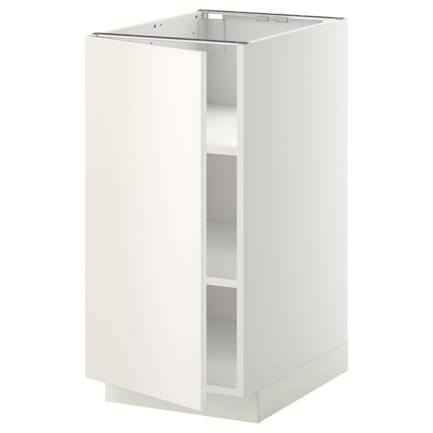 Ikea Kitchen Veddinge White: METOD Base Cabinet With Shelves White/veddinge White 40 X