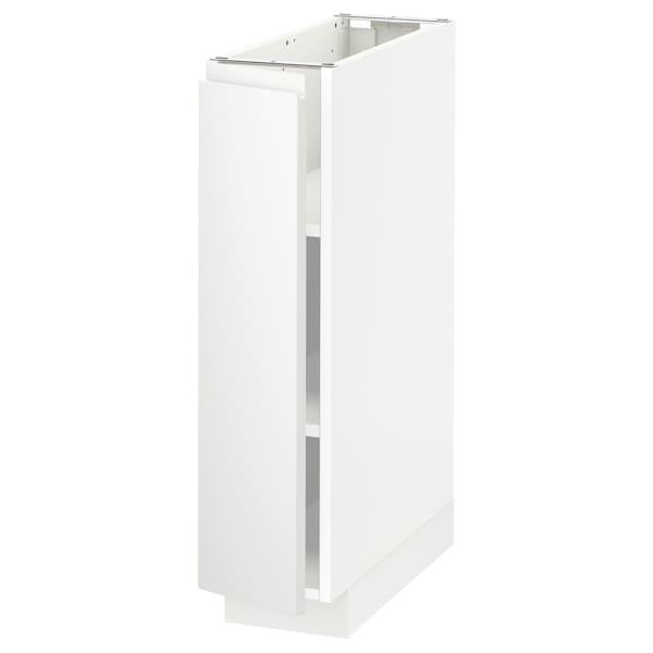 METOD Base cabinet with shelves, white/Voxtorp matt white, 20x60 cm