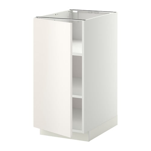METOD Base cabinet with shelves IKEA You can customise spacing as you need, because the shelves are adjustable.