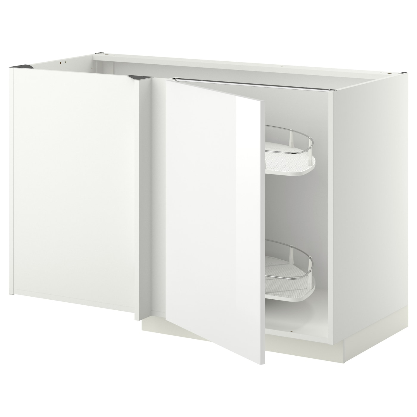 Metod corner base cab w pull out fitting white ringhult for Kitchen cabinets ikea