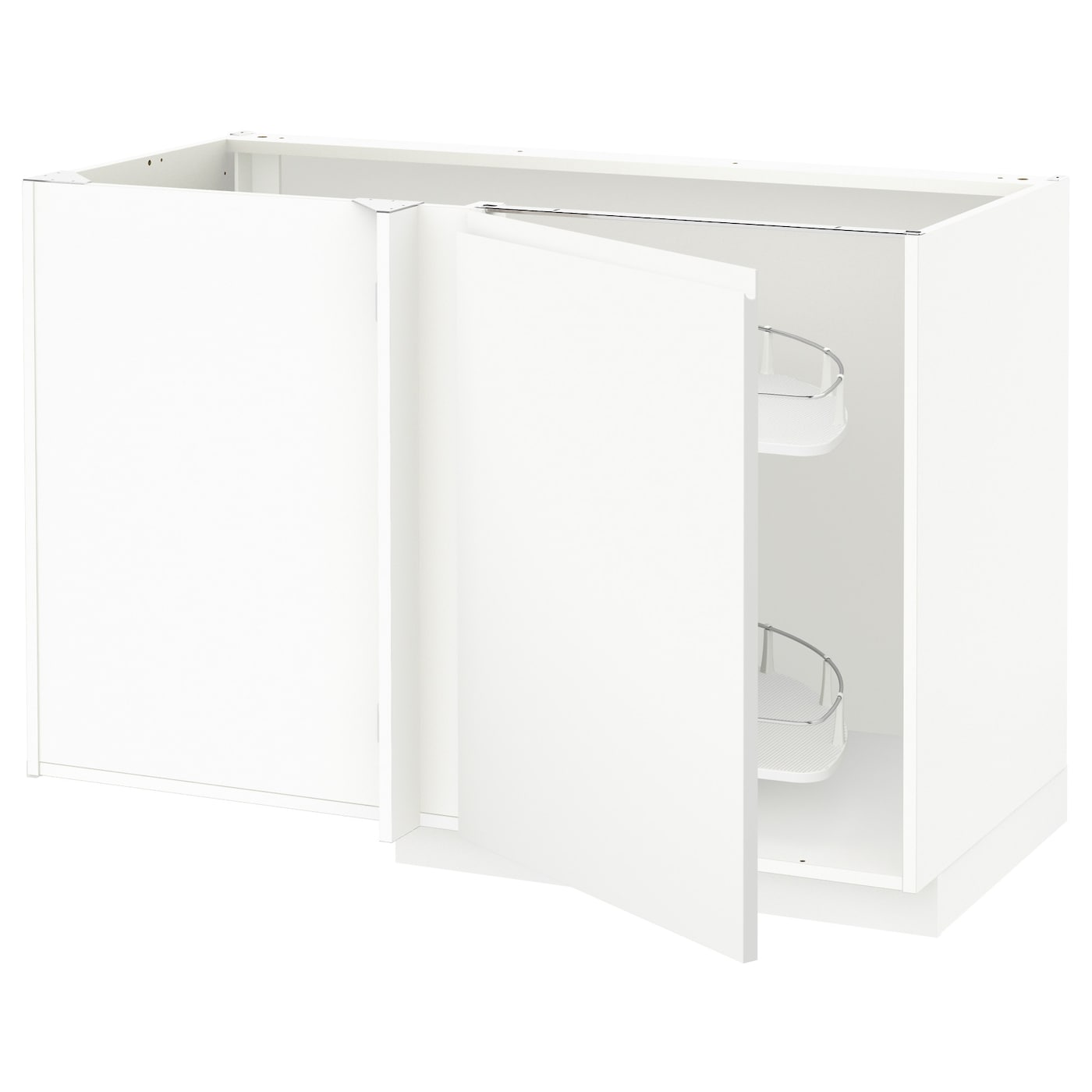 Pull Out Kitchen Shelves Ikea: METOD Corner Base Cab W Pull-out Fitting White/voxtorp