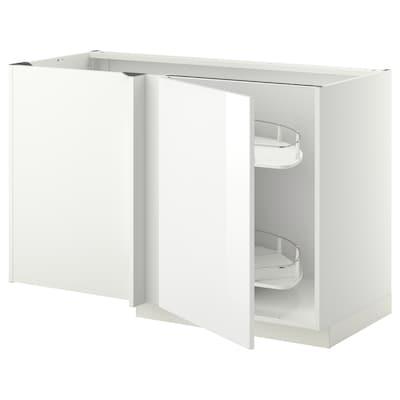 METOD corner base cab w pull-out fitting white/Ringhult white 127.5 cm 67.5 cm 88.0 cm 80.0 cm