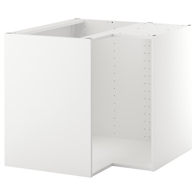 METOD corner base cabinet frame white 86.5 cm 87.5 cm 87.5 cm 60.0 cm 87.5 cm 80.0 cm
