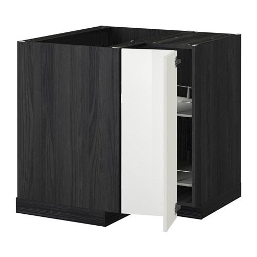 Metod corner base cabinet with carousel black ringhult - Meuble d angle de cuisine ikea ...