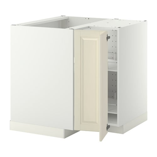 ikea corner kitchen cabinet metod corner base cabinet with carousel white bodbyn 17574