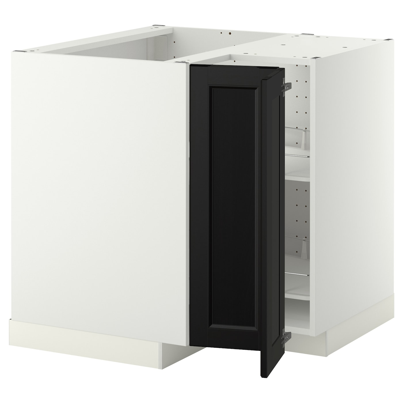 metod corner base cabinet with carousel white laxarby. Black Bedroom Furniture Sets. Home Design Ideas