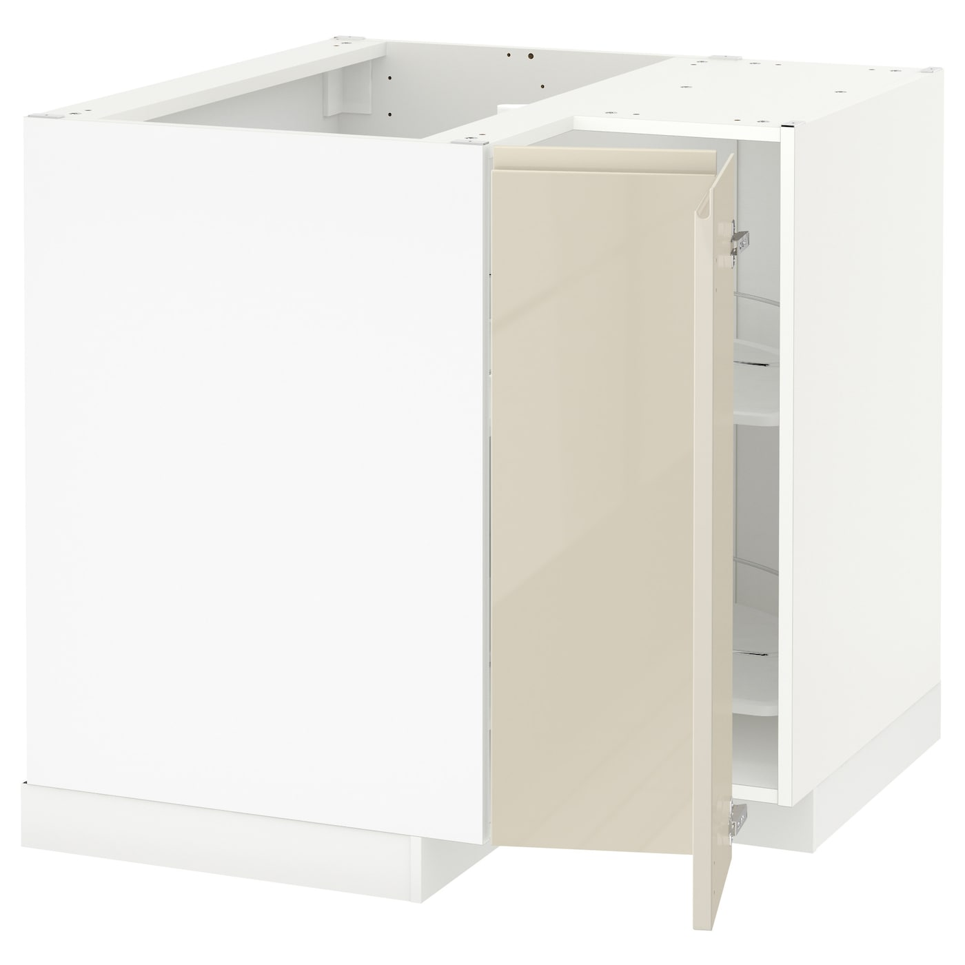 Ikea High Gloss White Cabinets Ikea White Gloss Cabinet: METOD Corner Base Cabinet With Carousel White/voxtorp High