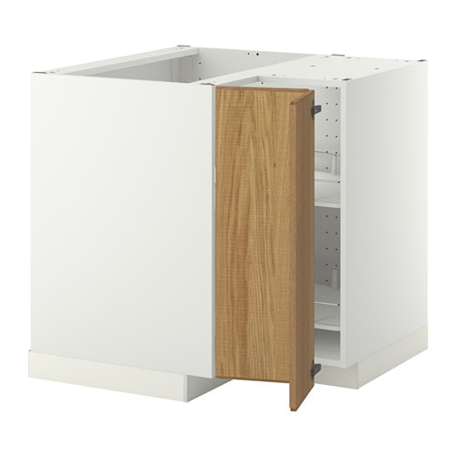 Ikea Duktig Keuken Afmetingen : METOD Corner base cabinet with carousel white, Hyttan