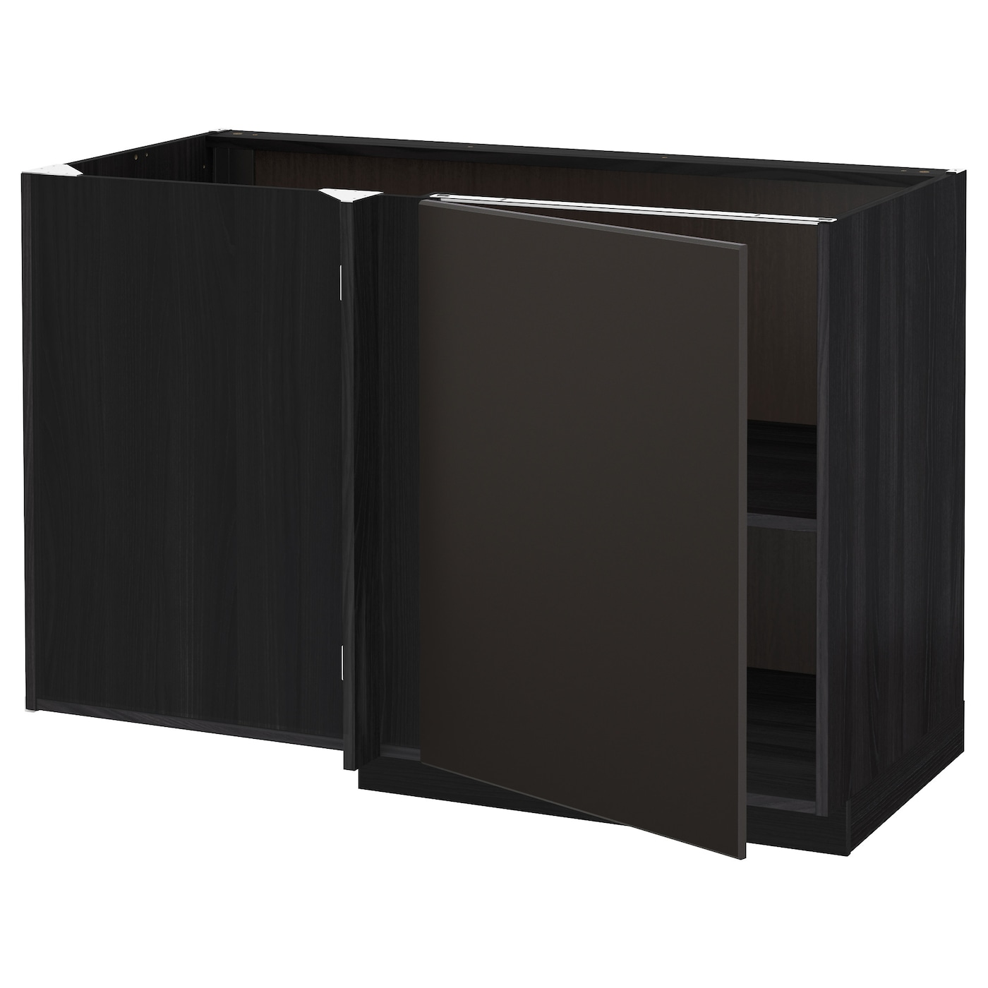 corner cabinet ikea metod corner base cabinet with shelf black kungsbacka 13913