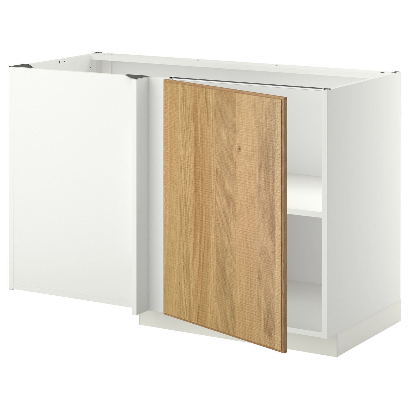 corner cabinet ikea metod corner base cabinet with shelf white hyttan oak 13913