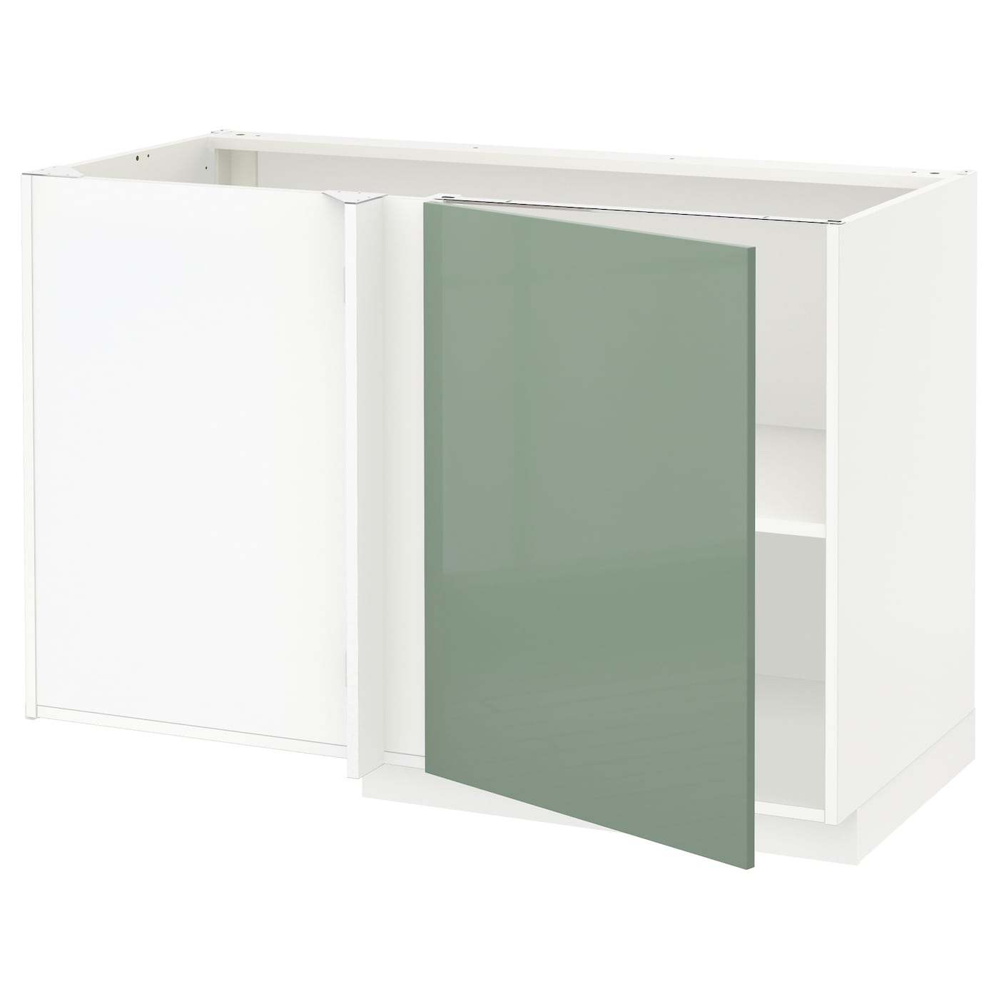 Ikea Kitchen Cabinet Lighting: METOD Corner Base Cabinet With Shelf White/kallarp Light