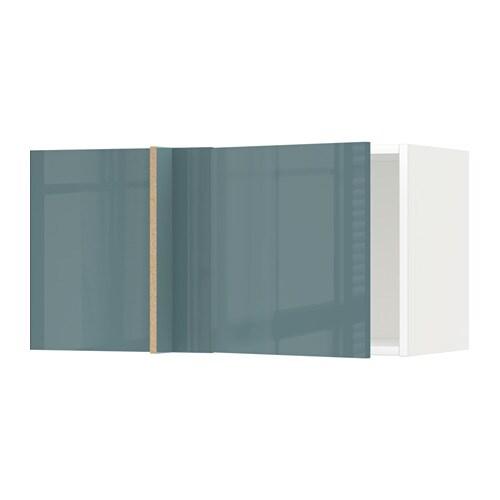 METOD Corner wall cabinet White kallarp grey turquoise