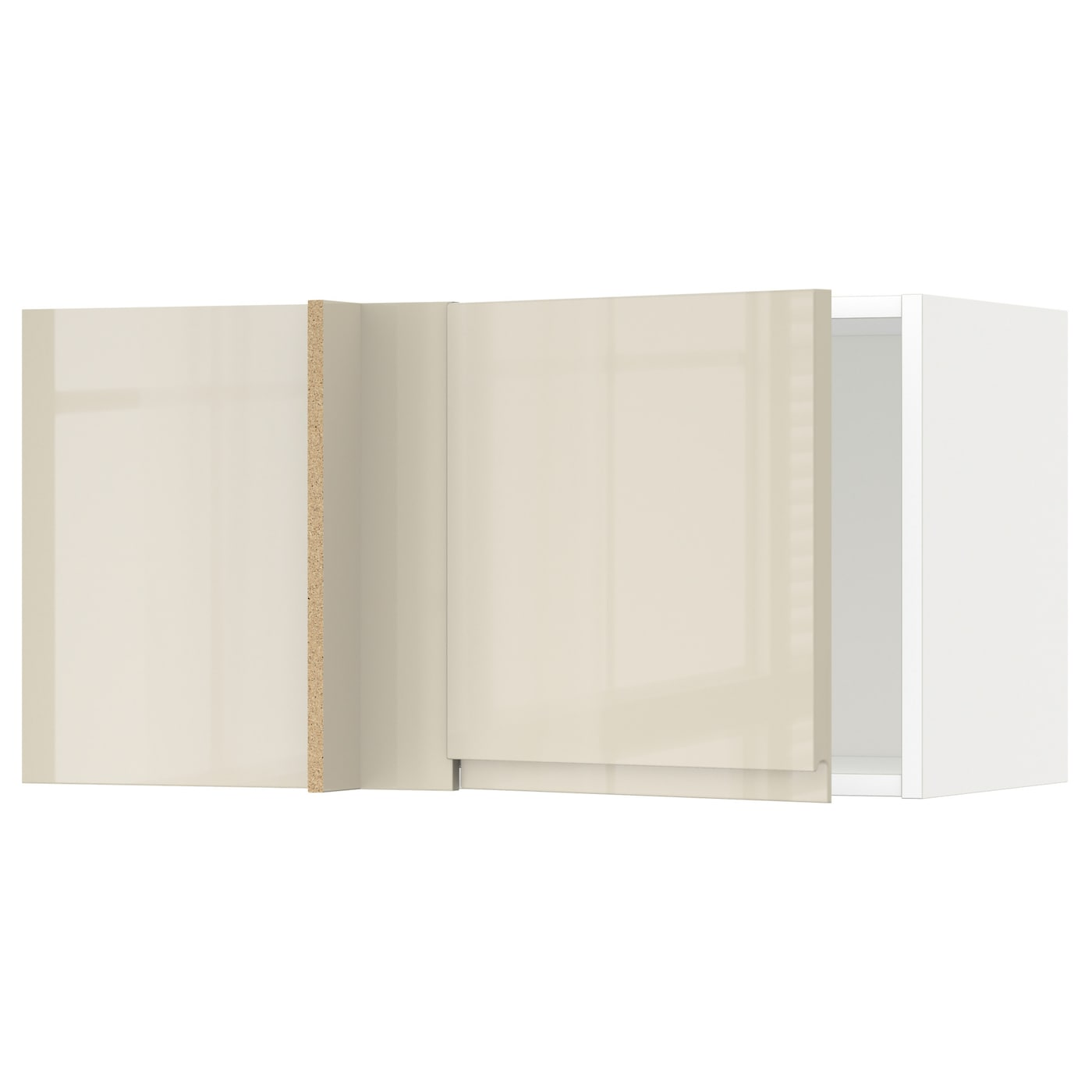 Metod corner wall cabinet white voxtorp high gloss light for White high gloss kitchen wall units