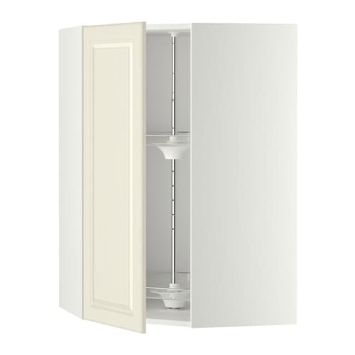 Metod Corner Wall Cabinet With Carousel Whitebodbyn Off White 68 X