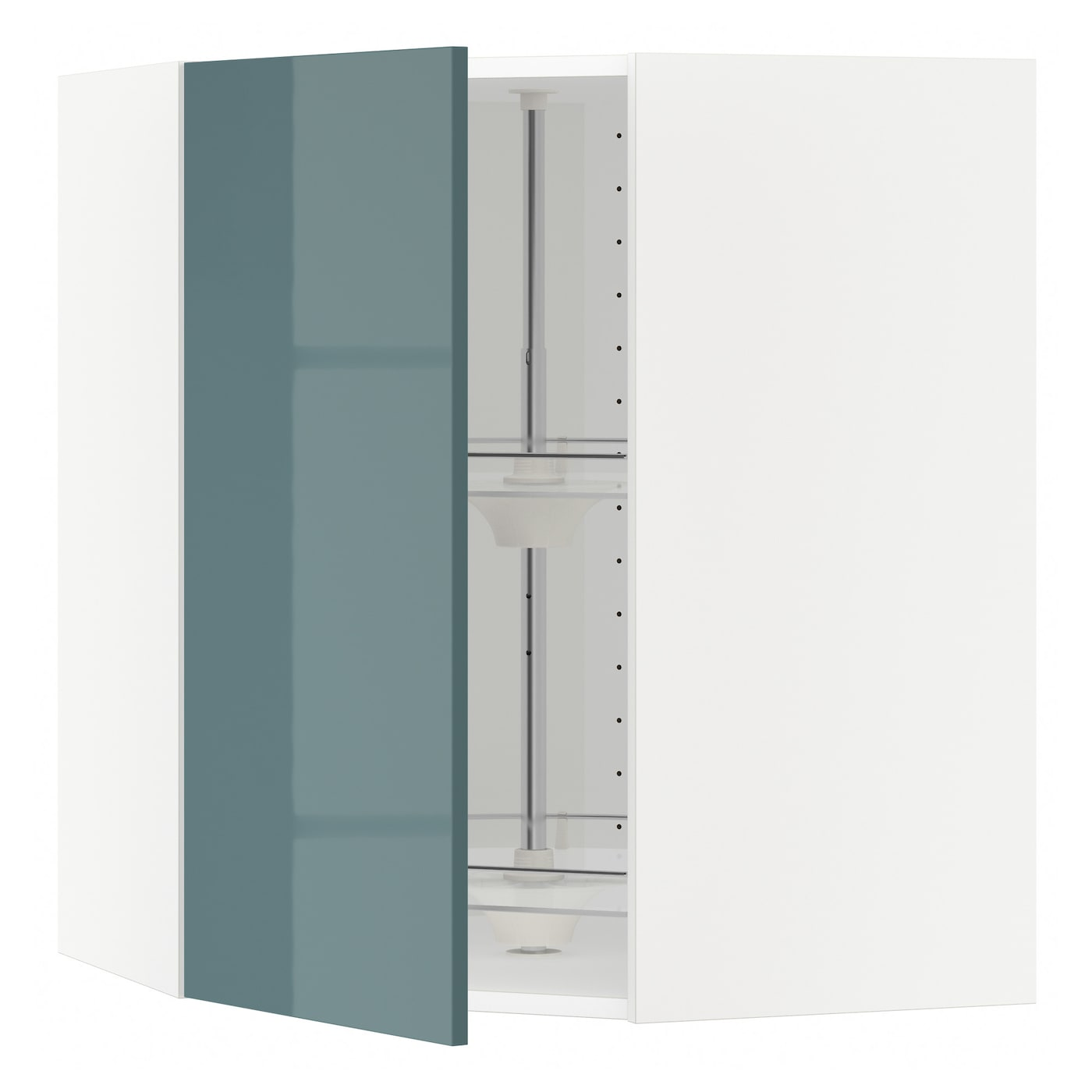 ikea wall kitchen cabinets metod corner wall cabinet with carousel white kallarp grey 4611