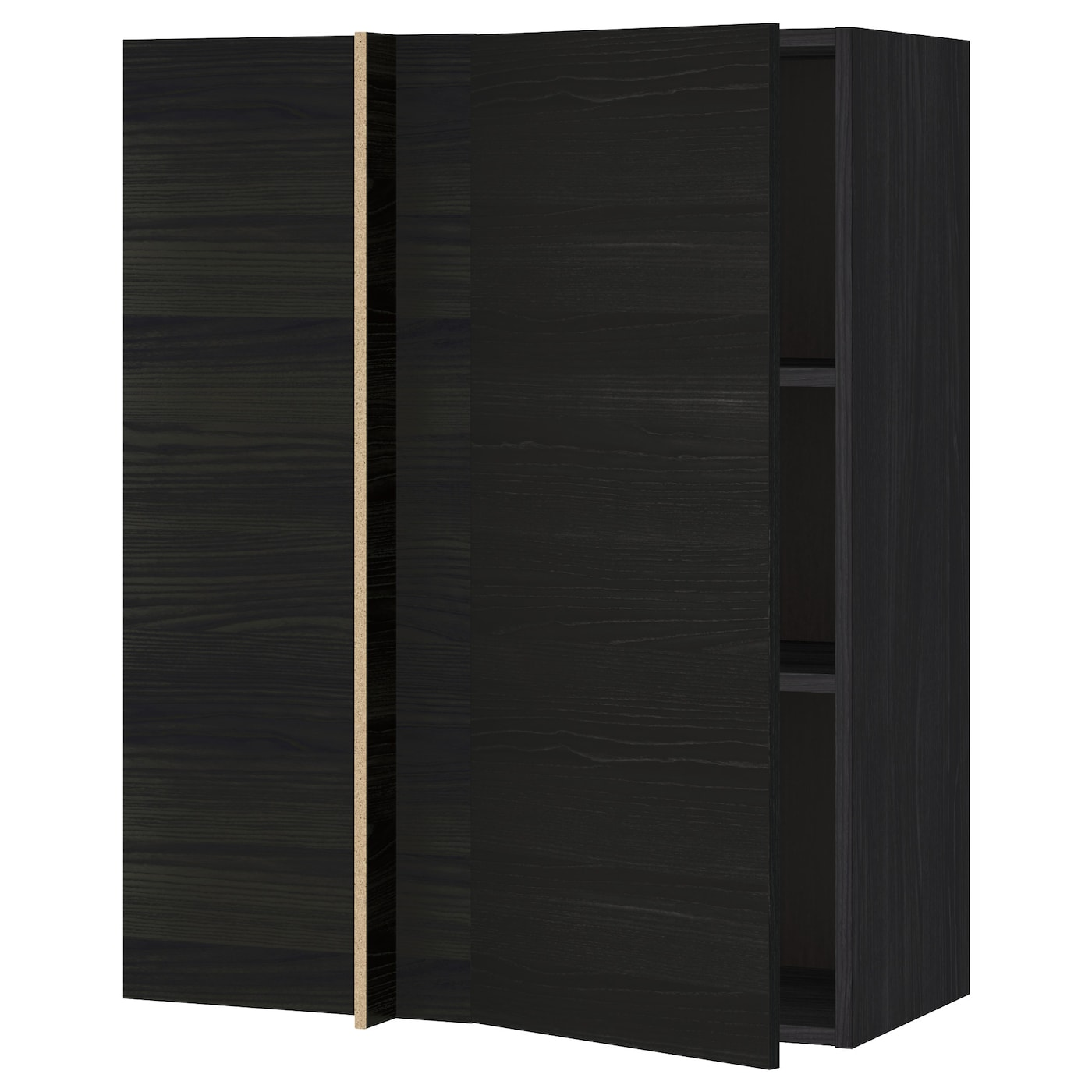Metod Wall Cabinet With Shelves: METOD Corner Wall Cabinet With Shelves Black/tingsryd