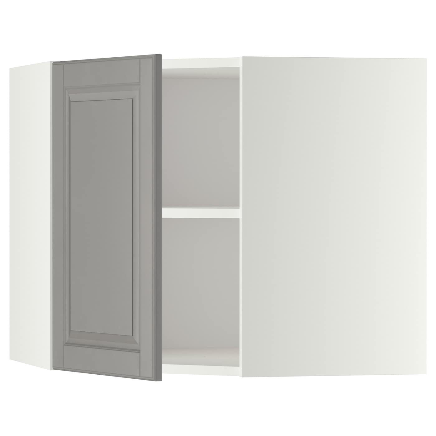 Metod Wall Cabinet With Shelves: METOD Corner Wall Cabinet With Shelves White/bodbyn Grey