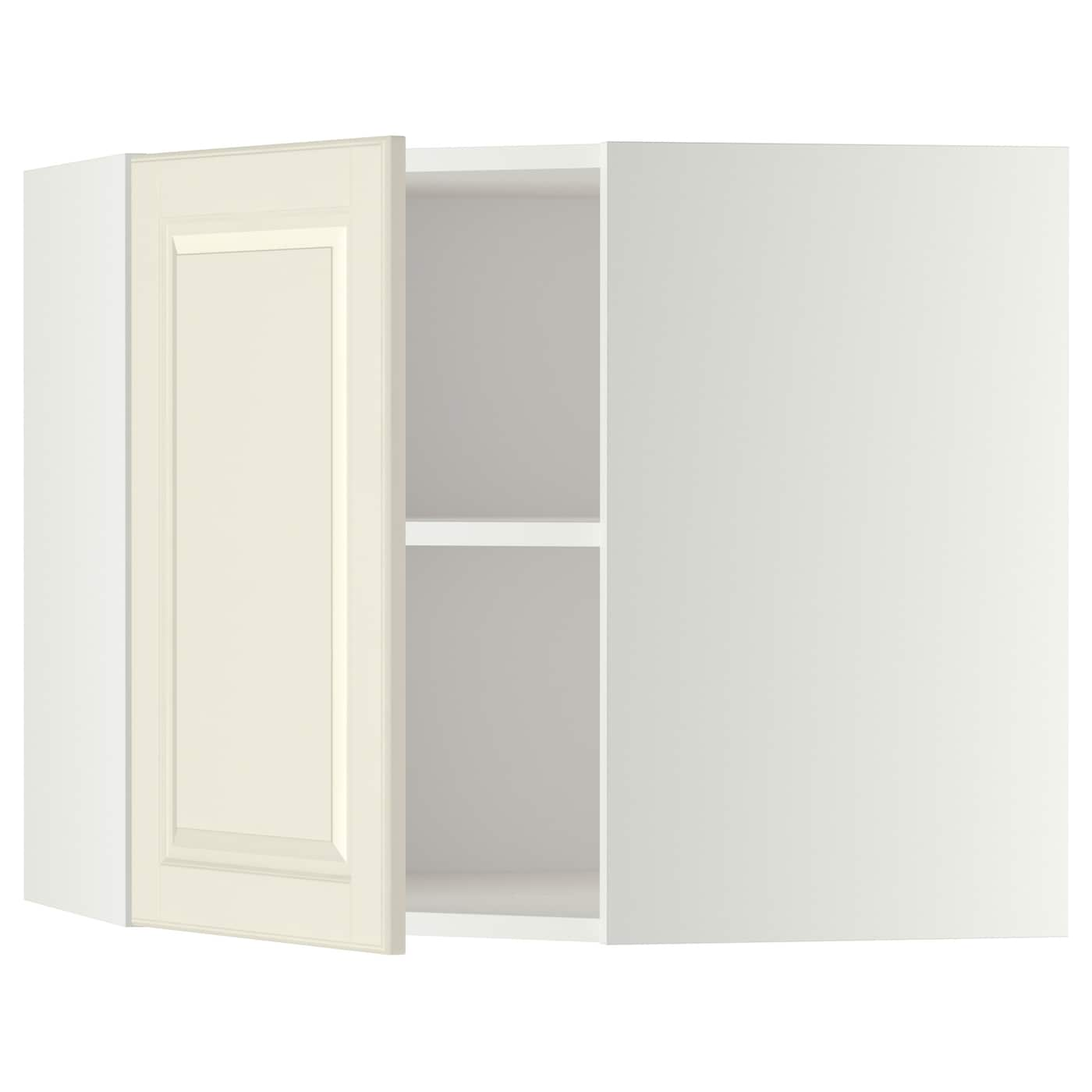 IKEA METOD Corner Wall Cabinet With Shelves Sturdy Frame Construction, 18  Mm Thick.