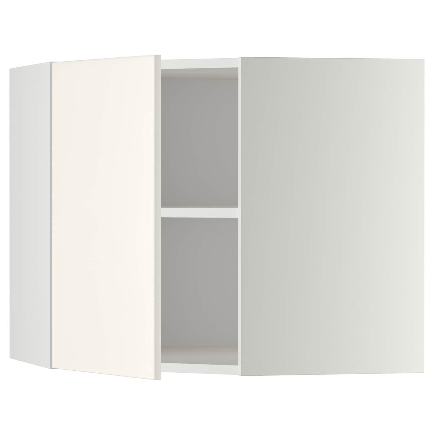 Ikea Kitchen Veddinge White: METOD Corner Wall Cabinet With Shelves White/veddinge