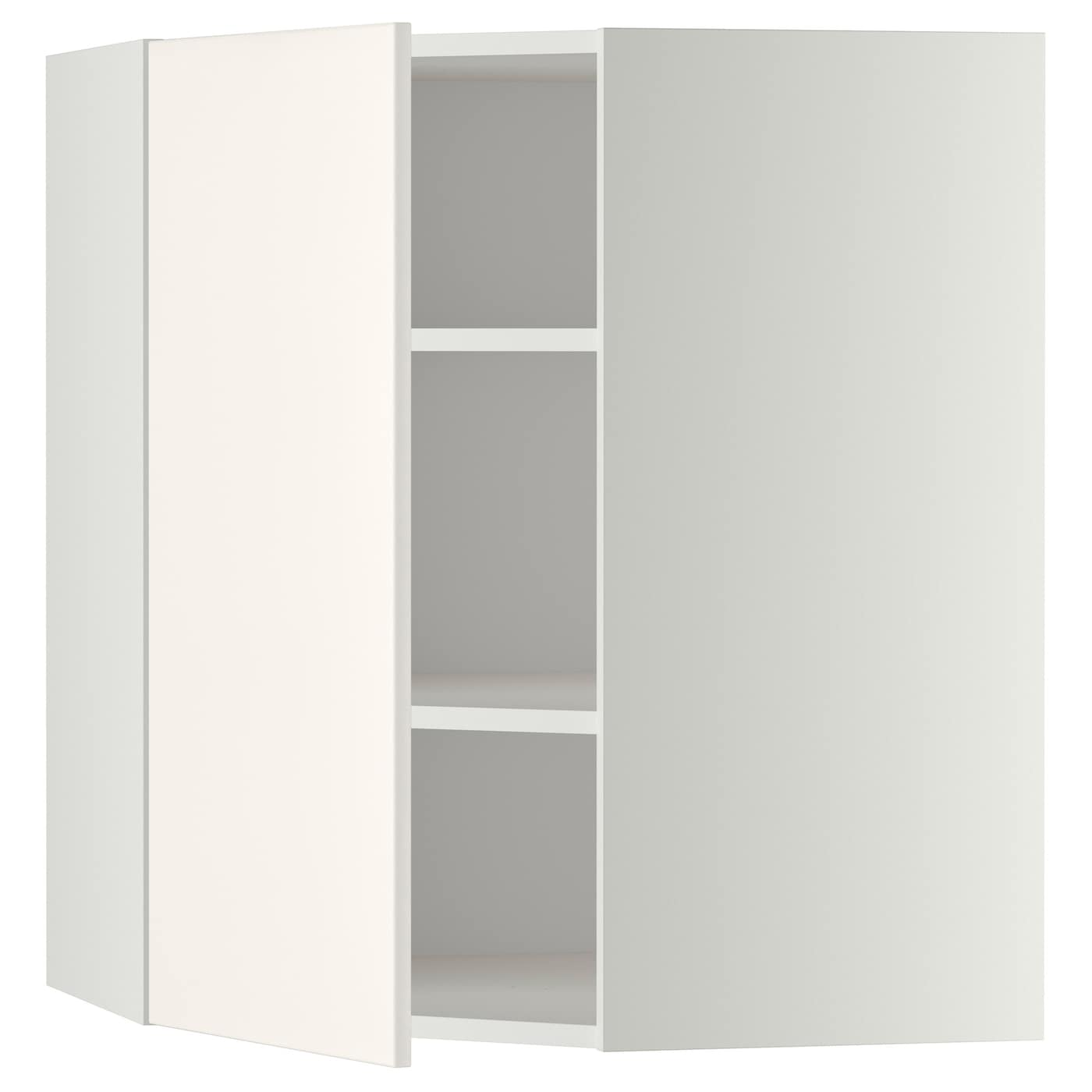 metod corner wall cabinet with shelves white veddinge. Black Bedroom Furniture Sets. Home Design Ideas