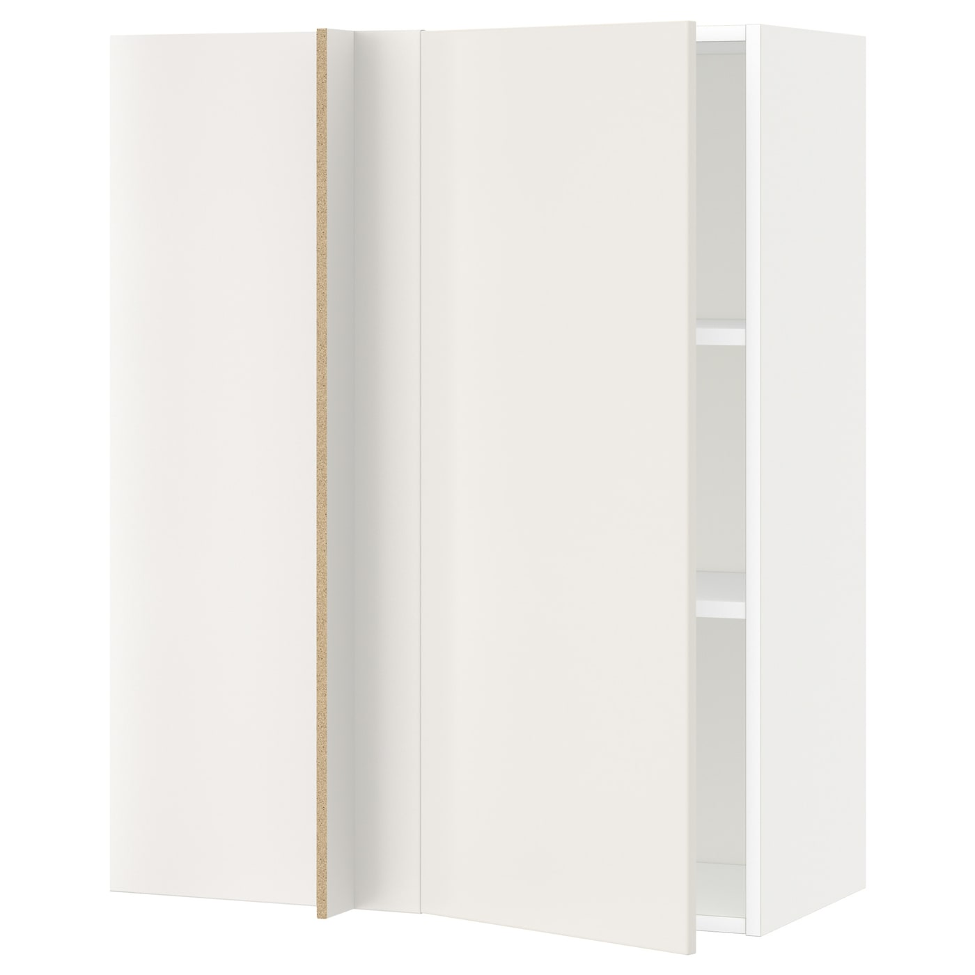IKEA METOD corner wall cabinet with shelves