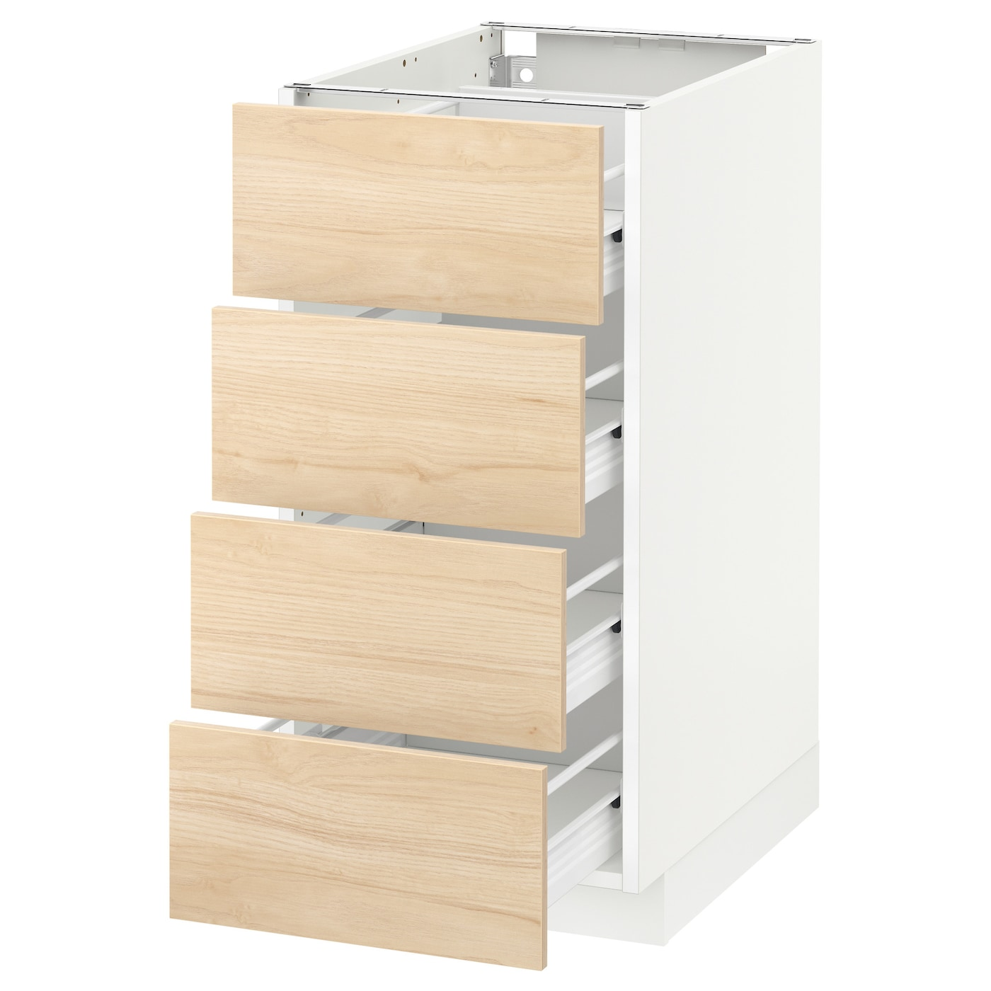 IKEA METOD/FÖRVARA base cab 4 frnts/4 drawers Sturdy frame construction, 18 mm thick.