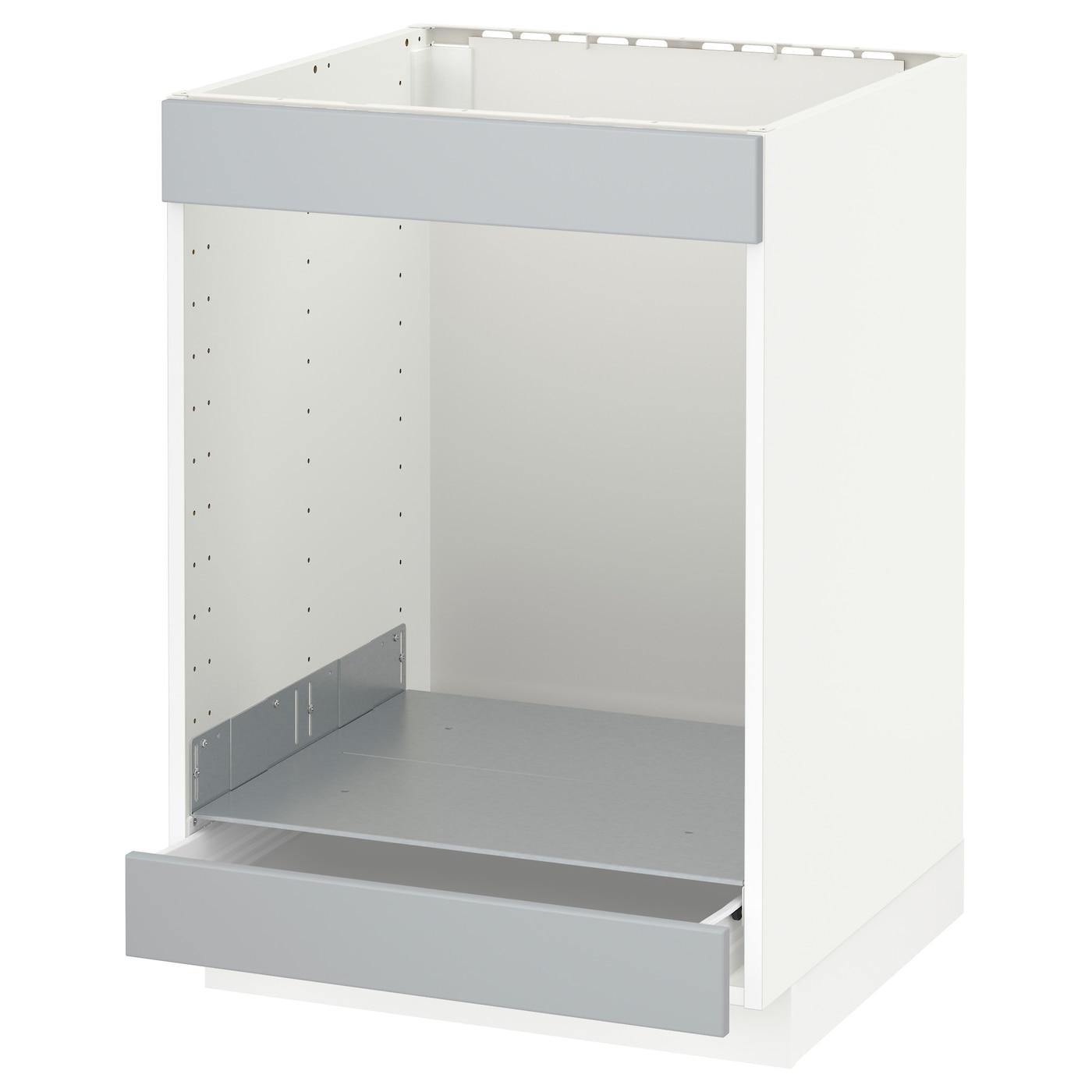 metod f rvara base cab for hob oven w drawer white. Black Bedroom Furniture Sets. Home Design Ideas