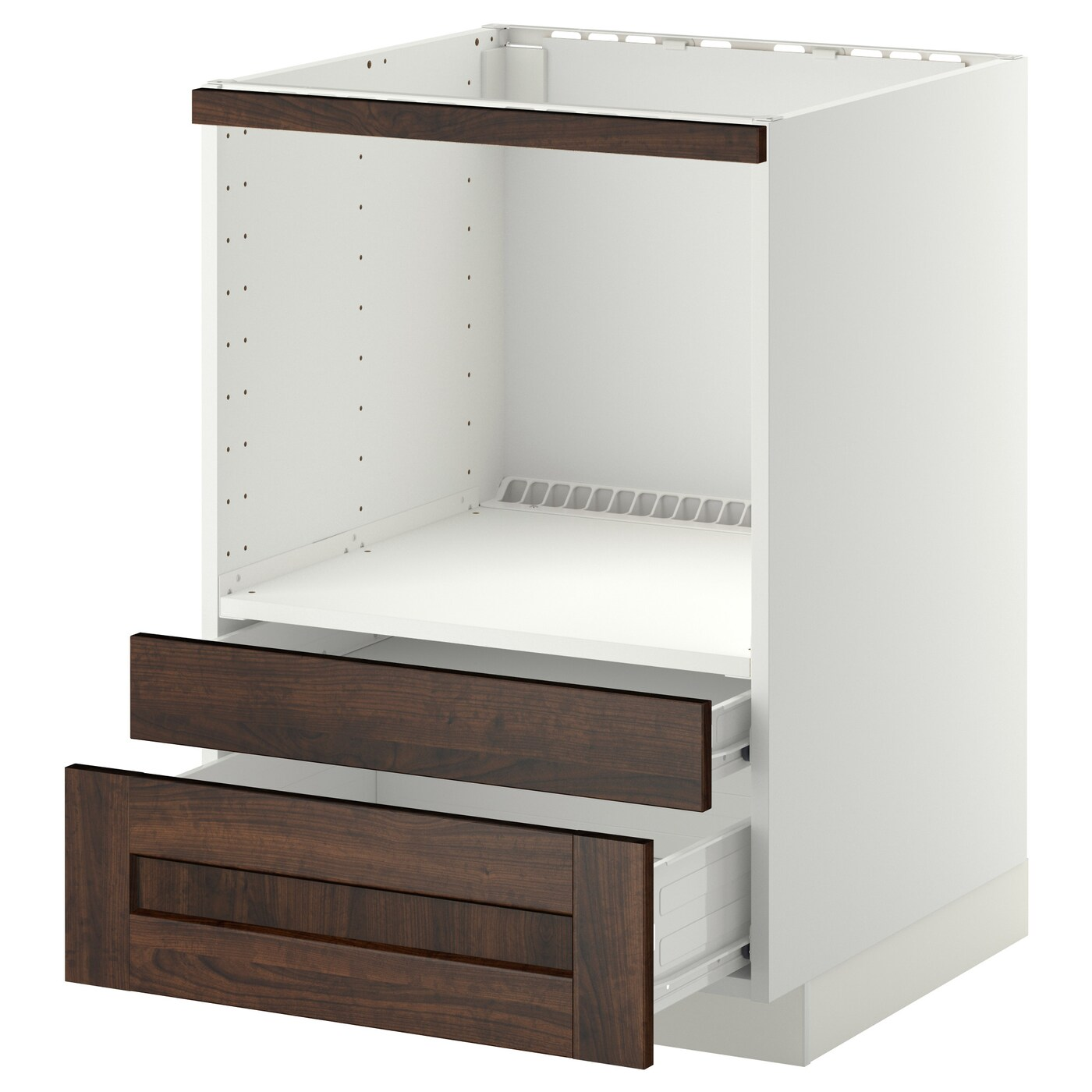 IKEA METOD/FÖRVARA base cabinet f combi micro/drawers Sturdy frame construction, 18 mm thick.